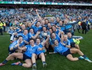 TG4 Ladies Senior All-Ireland Football Championship Final, Croke Park, Dublin 24/9/2017 Dublin vs Mayo Dublin players celebrates with the Brendan Martin Cup Mandatory Credit ©INPHO/Morgan Treacy